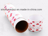 White Color Customzied Printing Logo Round Paper Tube Gift Box