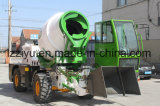 Self Loading and Feeding Concrete Mixer Truck