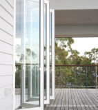 Tempered Glass Sliding Folding Aluminium Doors Prices