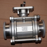"Stainless Steel 1000wog 1/2"" Clamped Encapsulated Ball Valve"