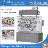 Multicolor Double Side High Speed Rotary Garment Wash Label Ribbon Satin Printing Machine