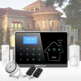 GSM Quad-Band and PSTN Dual Network Alarm System LCD Screen with Clock Display Compatible with Contact ID