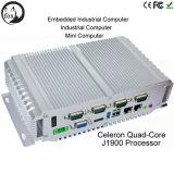Intel J1900 Fanless Industrial Mini Box PC with Rich I/O 6 USB Multi COM Flj-Box-J1900