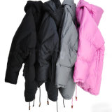 Three Colors High Grade Lady's Long Down Coat Winter Jacket with Competitive Price