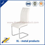 Wholesale Chrome Leg White PU Leather Dining Chairs