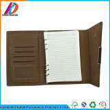 Embossing Printing Loose-Leaf Binding PU Leather Agenda with Pocket