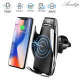Car Mounted Wireless Phone Charger for iPhone 8 X Xs Samsung S8 S9