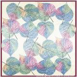 Cheap Fashion Design Leaf Print Imitated Silk Scarf for Lady