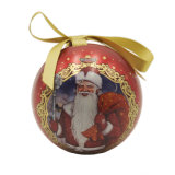 11.5cm Christmas Hanging Tin Ball for Gift Packing