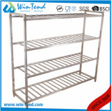 Cheap Kitchen Storage Rack Square Tube Heavy Duty Shelf Ladder Type