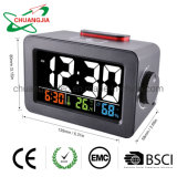 Digital Thermometer Hygrometer with Alarm Clock Snooze Electronic Desk Clock