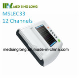 Cheap 12 Channel ECG Machine Mslec33 with Ce ISO Certificate
