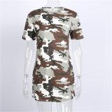 Camouflage Printed Clothing Custom Longline T Shirt Dress