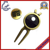 Magnetic Golf Divot Tool with Removeable Ball Marker