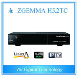 Enigma2 Linux OS Zgemma H5.2tc MPEG4 H. 265 / Hevc with DVB-S2 +2 * DVB-T2/C Dual Tuners HDTV Satellite Receiver