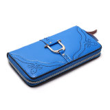 New Collection Blue PU Leather Purse Wallet for Women