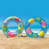 Dia. 61cm Inflatable Transparent Ring Swim Tube for Age 3-8
