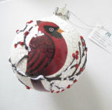 Chritmas Glass Ball with Bird Pattern