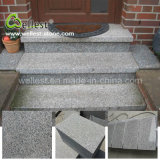 Wholesale High Quality Grey Color G623 Rosa Beta Granite Flamed Surface Exterior Step
