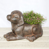Modern Decorative Dog Flower Pot for Bonsai Desk Indoor Decor