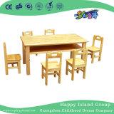 Oak Double Deck for Two Kids Kindergarten Furniture (HG-3801)