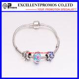 Fashion Silver Plated Jewelry DIY Beaded Charm Bracelet (EP-CB001)