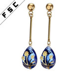 Hot Selling Wholesale Fashion Design Gold Plated Brand Earrings for Women