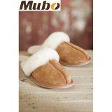 Winter Sheepskin Leather Women Slipper