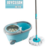 Joyclean New Spin Mop with Wheels and Detachable Basket