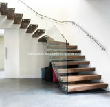 Invisible Stringer Cantilevered Floating Wooden Stairs