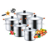 Factory 11PCS Stainless Steel Kitchenware with Capsule Bottom