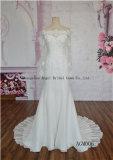 Beautiful Mermaid Handmake Flowers off Shoulder Long Sleeve Wedding Dress