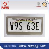 Stainless Steel Polish Mirror License Plate Frame with Screws and Caps