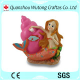 Custom Shape Resin Money Box Colorful Mermaid and Conch Shell Coin Bank