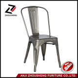 Sheetmetal Frame Patio Dining Metal Chair in Galvanized with Back Zs-T-01