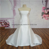 Satin Strapless Elegant Bridal Dress