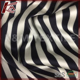 High Elastic Printed Stripe Pattern Raw Silk Satin Fabric