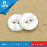 White Four Hole Resin Button for Garment