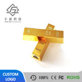 2600mAh Golden Wholesale OEM Mini Bar Gold Slim Power Bank