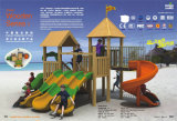 Kaiqi Small CE/En1176 Wooden Children's Play Equipment - Perfect for Natural Playgrounds (KQ10152A)