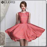 Quality Summer Stripe Print Dress Fashion Women Garment