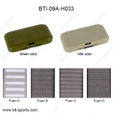 Wholesale Multi Colors Different Foams Spring Tache 100% Waterproof Fly Fishing Slim Fly Box 09A-H033