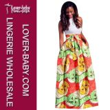 Two-Pieces Printed Woman African Dress (L28070)