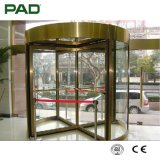 Automatic Rotating Door with Silver Color