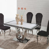 Marble Color Tempered Glass Dining Tables