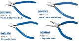 Plastic Cutter Nipper, Flush Cut Side Cutter, Nipper, Electronic Cutter Pliers