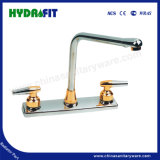 High Quality Double Handle Cheap Kitchen Faucet South American Market (Fa8802)