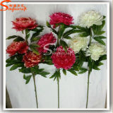 Chinese Flower Artificial Flowers Three-Head Peony