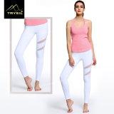 Women's Legging Pants Sportswear with Cotton Yarn Splicing Mesh