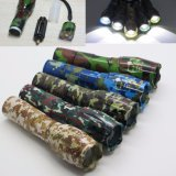 Camouflage CREE T6 2000lm Rechargeable Tactical LED Zoom Flashlight Torch